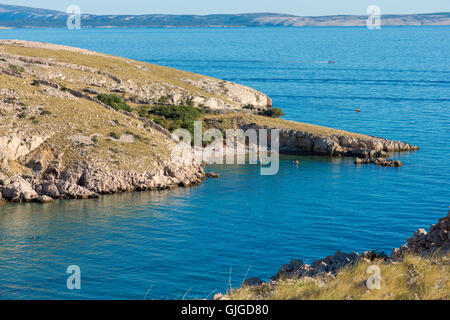 Beach near Stara Baska in Krk Island, Croatia - Stock Photo