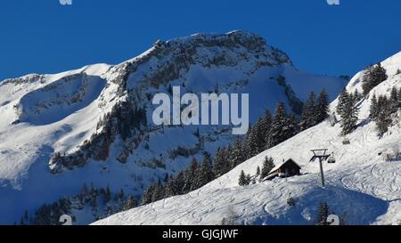 ski slope, stock, snow, slope, skiing, family, komi, nagano, japan ... - Japanische Huser
