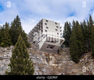 Hotel le Flaine, 1969. Flaine, Flaine, France. Architect: Marcel Breuer, 1969. - Stock Photo