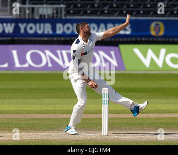 Old Trafford, Manchester, UK. 16th Aug, 2016. Supersavers County Championship. Lancashire versus Yorkshire. Yorkshire - Stock Photo