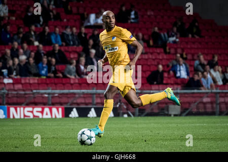 Denmark, Copenhagen, August 16th 2016. Carlao (5) of APOEL during the UEFA Champions League play-off match between - Stock Photo