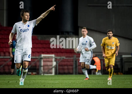 Denmark, Copenhagen, August 16th 2016. William Kvist (6) of FC Copenhagen during the UEFA Champions League play - Stock Photo