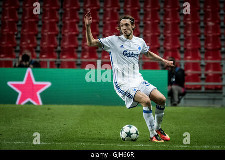 Denmark, Copenhagen, August 16th 2016. Rasmus Falk (33) of FC Copenhagen during the UEFA Champions League play-off - Stock Photo