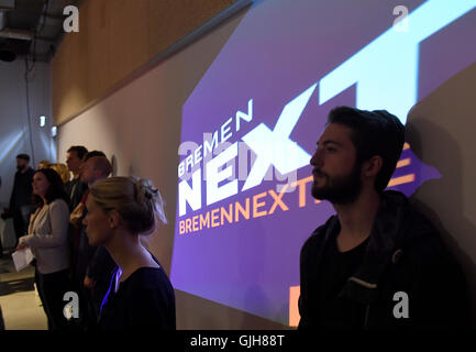 Bremen, Germany. 17th Aug, 2016. The new cross-medium programme 'Bremen NEXT' by Radio Bremen being presented during - Stock Photo