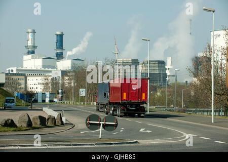 Deutschland, Nordrhein-Westfalen, Kreis Bergheim, Hürth, Chemiepark Knapsack - Stock Photo