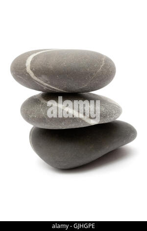 stacked stones - Stock Photo