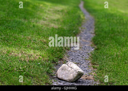 stone in the way - Stock Photo