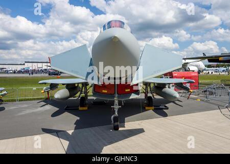 Multirole fighter Eurofighter Typhoon. German Air Force (Luftwaffe). - Stock Photo