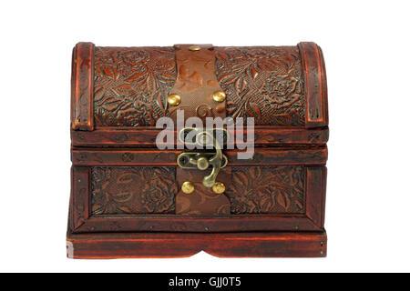 chest box jewel case - Stock Photo