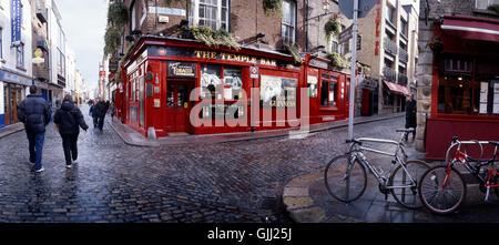 temple bar in dublin - Stock Photo