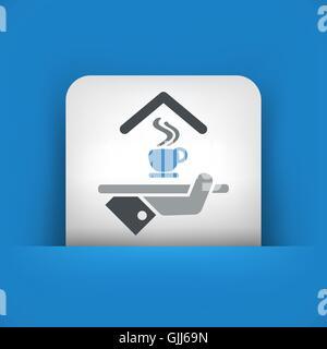 Hotel icon. Breakfast. - Stock Photo