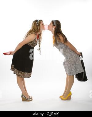 studio sisters enthusiasm - Stock Photo