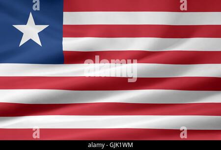 africa flag liberia - Stock Photo
