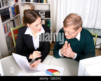 woman consultation consultancy - Stock Photo