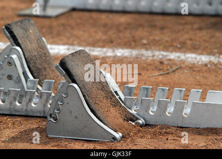 aid sport-turned out athletics - Stock Photo