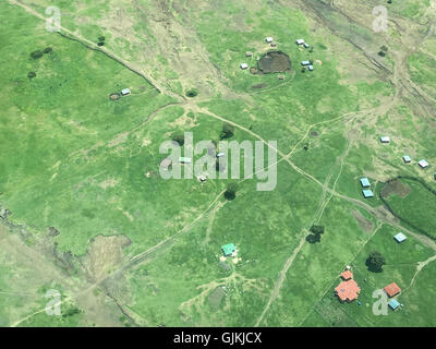 Great Rift, Kenya from air - Stock Photo