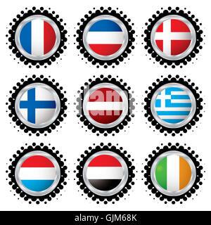 flag button banner - Stock Photo