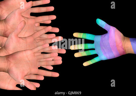 hand hands business dealings - Stock Photo
