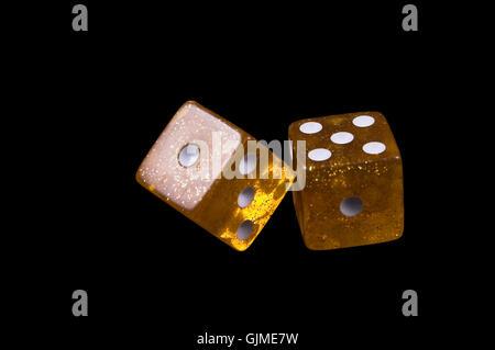casino throw dice - Stock Photo