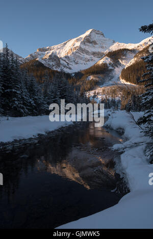 Rockey mountain sunrise - Stock Photo