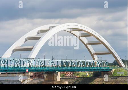Bridge on the River Danube - Stock Photo