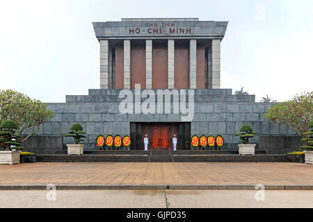 Hanoi, Vietnam - February 23, 2016: Mausoleum of Ho Chi Minh in Hanoi, Vietnam - Stock Photo