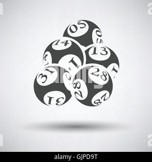 Lotto balls icon on gray background with round shadow. Vector illustration. - Stock Photo