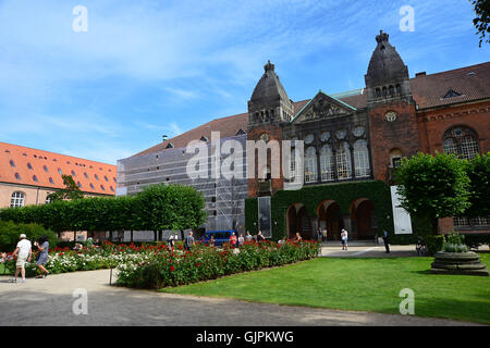 Copenhagen, Denmark - July 23, 2016: The Royal Library garden - Stock Photo