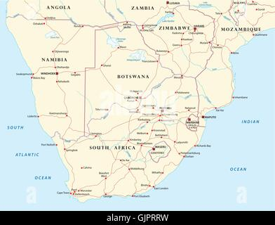 Map Of SouthernAfrica Africa Angola Stock Photo Royalty Free - Angola road map