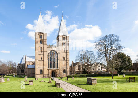 Southwell Minster, Cathedral Church of Nottinghamshire, Southwell, Nottinghamshire, England, UK - Stock Photo