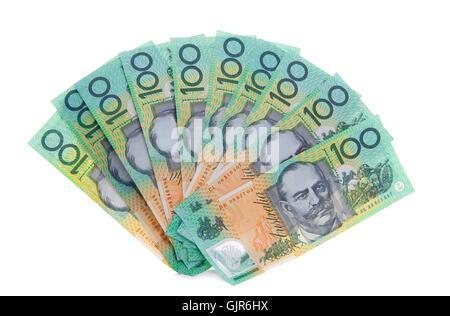 Australian 100 dollar note bills money - Stock Photo