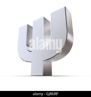 Shiny Greek Letter Psi - Stock Photo