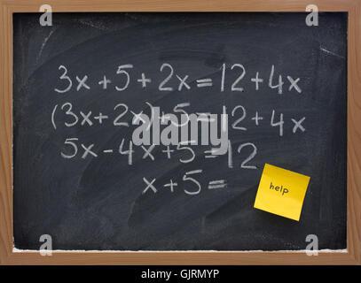 blackboard homework mathematics - Stock Photo