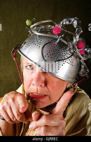 woman lady funny - Stock Photo