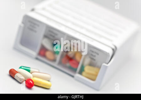 drugs tablets at night - Stock Photo