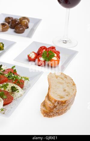 bread italian vegetarian - Stock Photo