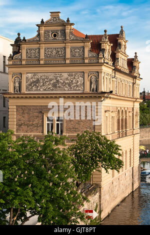 The Smetana Museum in Prague, as seen from the Charles Bridge - Stock Photo