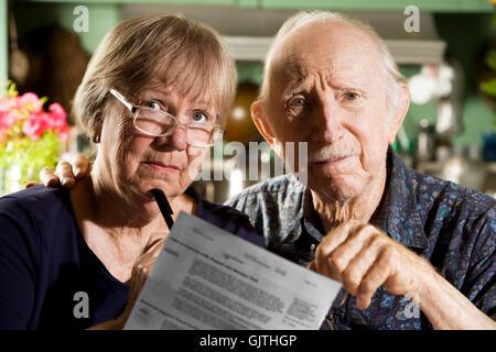woman grandpa grandfather - Stock Photo