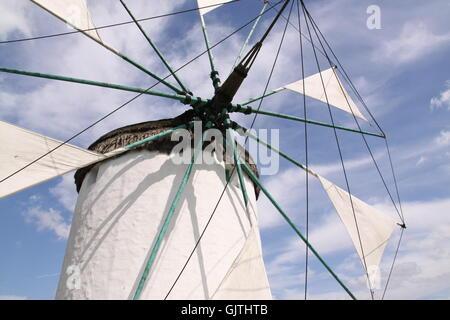 wing a greek windmill - Stock Photo