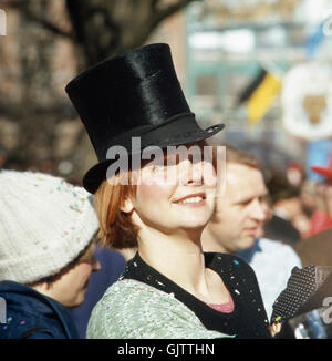Market Woman Fasching Munich Upper Bavaria Germany Europe Stock