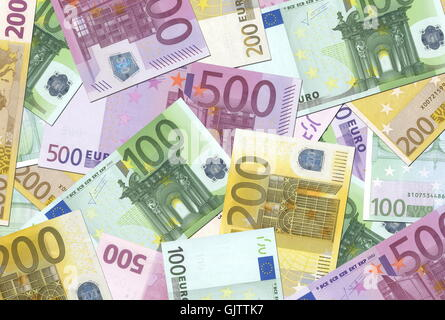 currency euro notes - Stock Photo