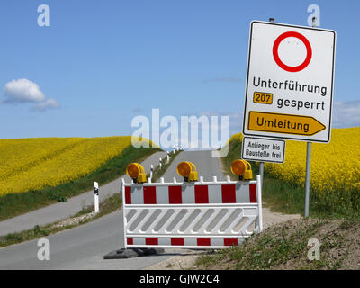 barrier sign signal - Stock Photo