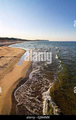 on the northern beach of gohren on the island of rugen - Stock Photo