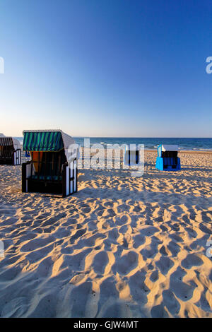 on the north beach of gohren on the island of rugen - Stock Photo