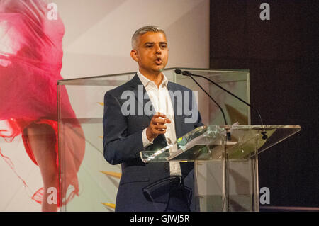 London, UK. 17th Aug, 2016. Sadiq Khan attends the launch of the Autumn season at the Science museum. Credit:  JOHNNY - Stock Photo