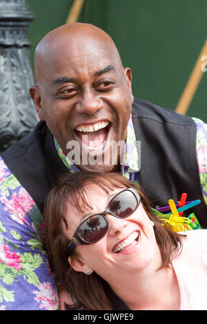 Southport, Merseyside, UK. 18th August, 2016. Ainsley Harriott opens Southport Flower Show, 18 Aug 2016: Celebrity - Stock Photo