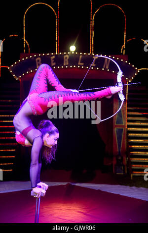 Circus performer, 'Continental Circus Berlin' - Stock Photo