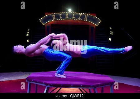 Circus performer, 'Continental Circus Berlin' - Stock Photo