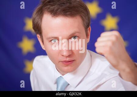 blank european caucasian - Stock Photo