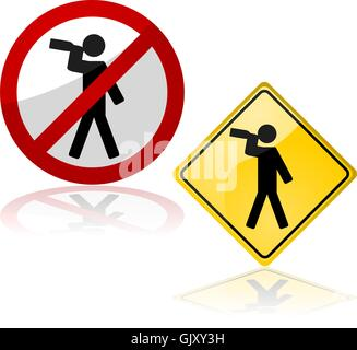 Drinking signs - Stock Photo
